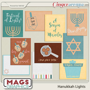 Hanukkah Lights JOURNAL CARDS by MagsGraphics