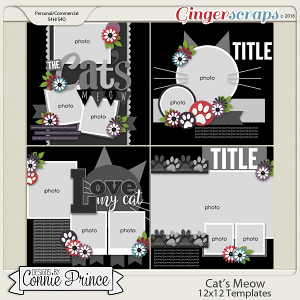 Cat's Meow - 12x12 Templates (CU OK)
