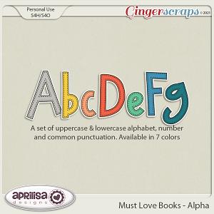 Must Love Books - Alpha by Aprilisa Designs