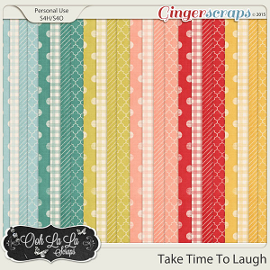 Take Time To Laugh Pattern Papers