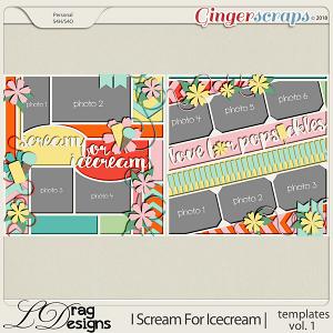 I Scream For Icecream: Templates Vol. 1 by LDrag Designs