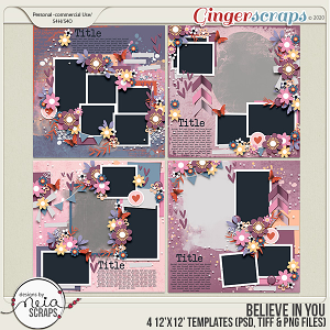Believe in You - Templates - by Neia Scraps