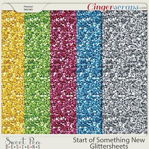 Start of Something New Glitter Sheets