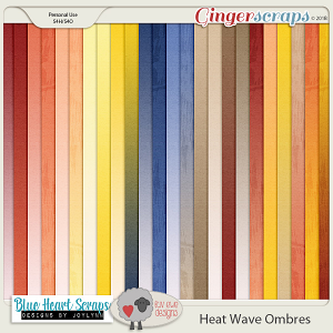 Heat Wave Ombre Papers by Luv Ewe Designs and Blue Heart Scraps
