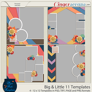 Big & Little 11 Templates by Miss Fish