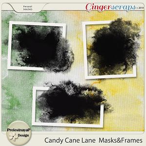 Candy Cane Lane  Masks & Frames