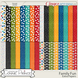 Family Fun - Extra Papers by Connie Prince