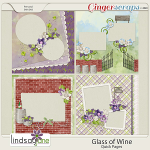 Glass of Wine Quick Pages by Lindsay Jane