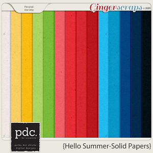 Polka Dot Chicks: Hello Summer (Papers 3 - Solids)