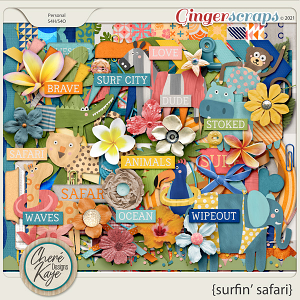 Surfin' Safari Page Kit by Chere Kaye Designs