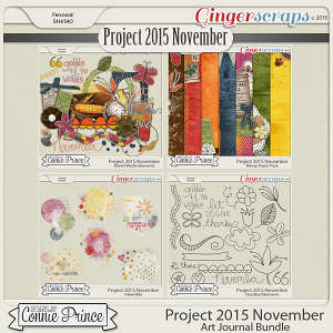 Project 2015 November - Art Journal Bundle