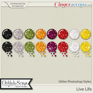 Live Life Glitter CU Photoshop Styles