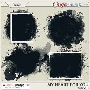 My Heart For You - Masks - by Neia Scraps