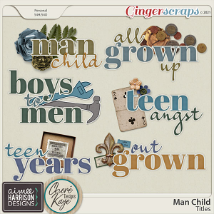 Man Child Titles by Aimee Harrison and Chere Kaye Designs