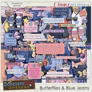 Butterflies & Blue Jeans by BoomersGirl Designs