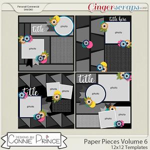 Paper Pieces Volume 6- 12x12 Temps (CU Ok) by Connie Prince