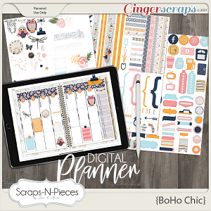Boho Chic Planner Pieces by Scraps N Pieces