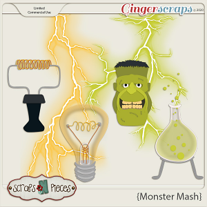 Monster Mash CU Layered Templates - Scraps N Pieces