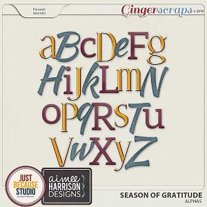 Season Of Gratitude Alphas by JB Studio & Aimee Harrison Designs