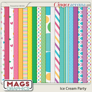 Ice Cream Party PAPERS by MagsGraphics