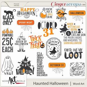 Haunted Halloween Word Art