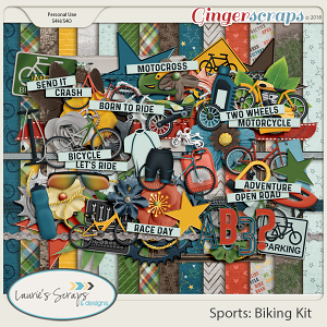 Sports: Biking Page Kit