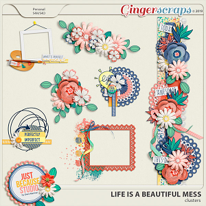 Life Is A Beautiful Mess Clusters by JB Studio