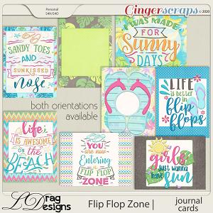 Flip Flop Zone: Journal Cards by LDragDesigns