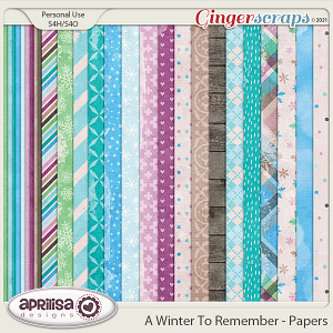 A Winter to Remember - Papers by Aprilisa Designs