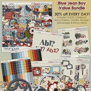 Blue Jean Boy Value Bundle by Trixie Scraps Designs