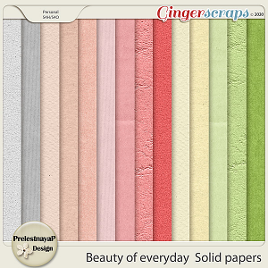 Beauty of everyday Solid papers