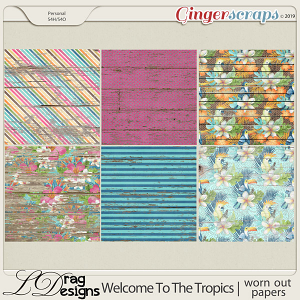 Welcome To The Tropics: Worn Out Papers by LDragDesigns