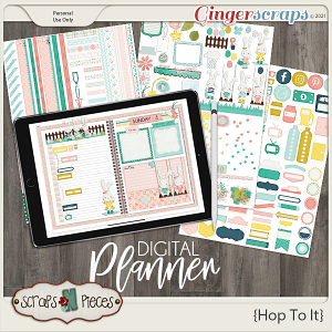 Hop To It Planner Pieces by Scraps N Pieces
