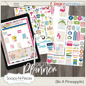 Be A Pineapple Planner Pieces by Scraps N Pieces