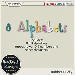 Rubber Ducky ALPHABETS by Heather Z Scraps