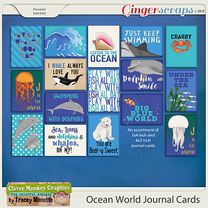 Ocean World Journal Cards by Clever Monkey Graphics