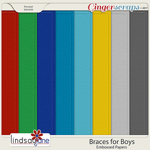 Braces for Boys Embossed Papers by Lindsay Jane