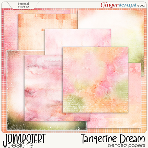 Tangerine Dream {Blended Papers} by Jumpstart Designs