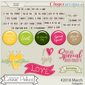 #2018 March - Snippets by Connie Prince