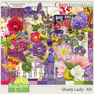 Shady Lady Kit by Key Lime Digi Design