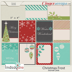 Christmas Frost Journal Cards by Lindsay Jane