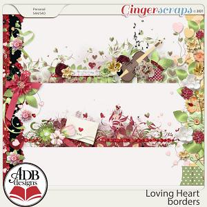 Loving Heart Borders by ADB Designs