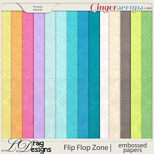 Flip Flop Zone: Embossed Papers by LDragDesigns
