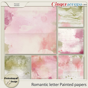 Romantic letter Painted papers