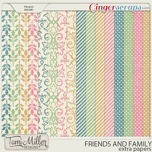 Friends and Family Extra Papers by Tami Miller Designs