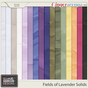 Fields of Lavender Solid Papers by Aimee Harrison