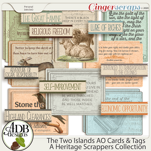 The Two Islands AO Cards & Tags by ADB Designs