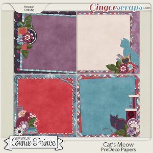 Cat's Meow - PreDeco Papers