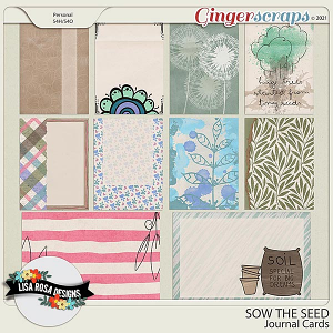 Sow the Seed - Journal Cards by Lisa Rosa Designs