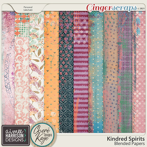 Kindred Spirits Blended Papers by Aimee Harrison and Chere Kaye Designs
